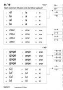 Lesetraining 2 – Buchstaben: Lautabfolgen mit a und e