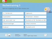 Rechentraining 5: Aufgabentypen