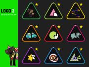 LOGO 3 – Übungsauswahl und Lernjournal. Die farbigen Linien zeigen den aktuellen Lernstand jeder Übung. Ein Stern heisst: Alle Stufen der Übung perfekt gelöst.