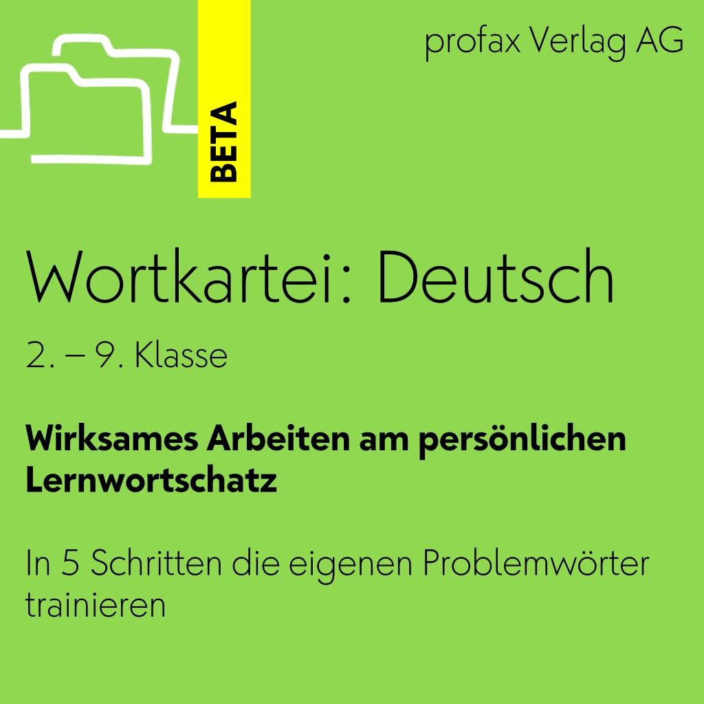 Wortkartei: Deutsch