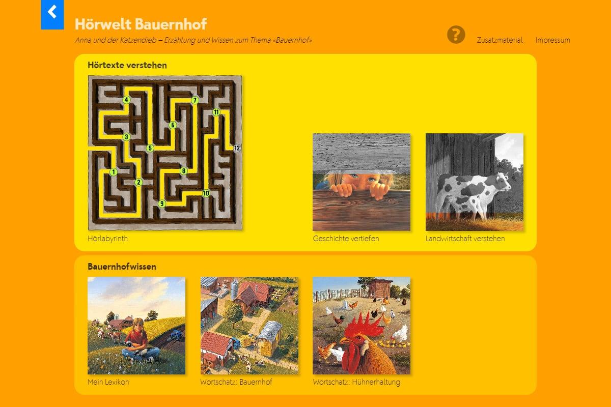 Hörwelt Bauernhof – Lernjournal