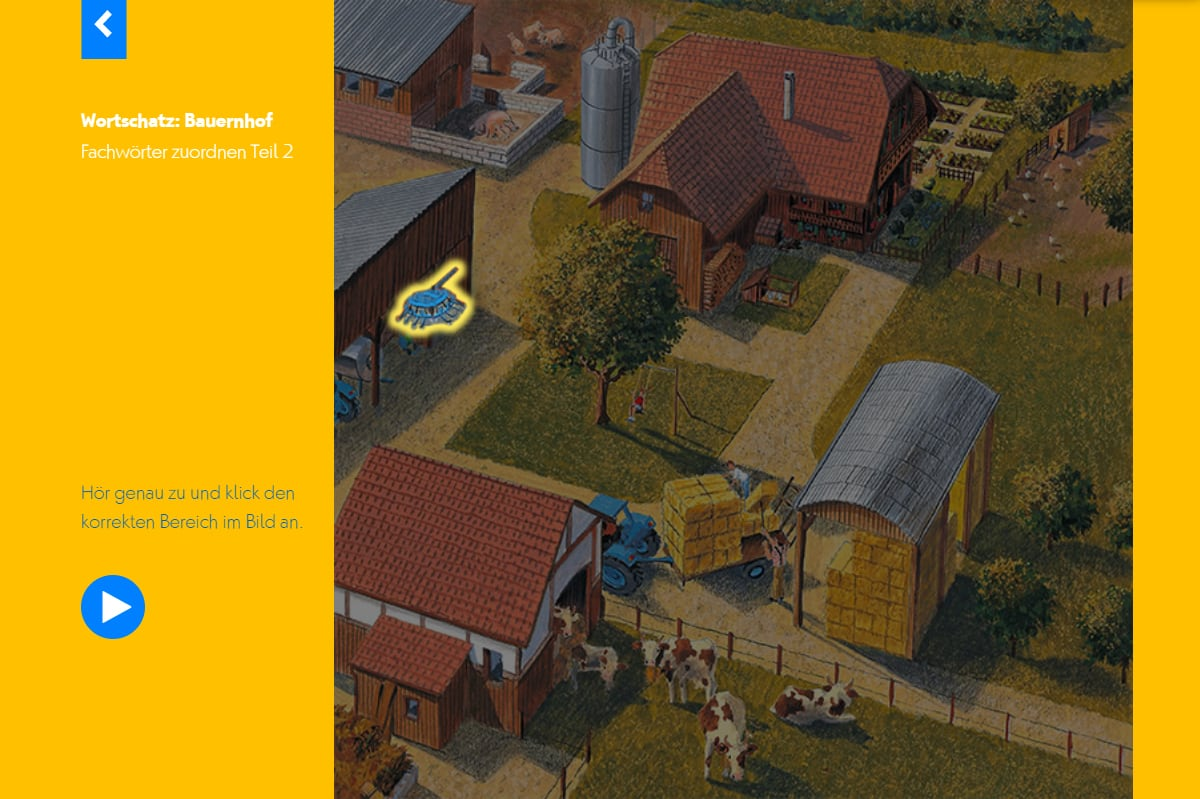 Hörwelt Bauernhof – Wortschatztraining