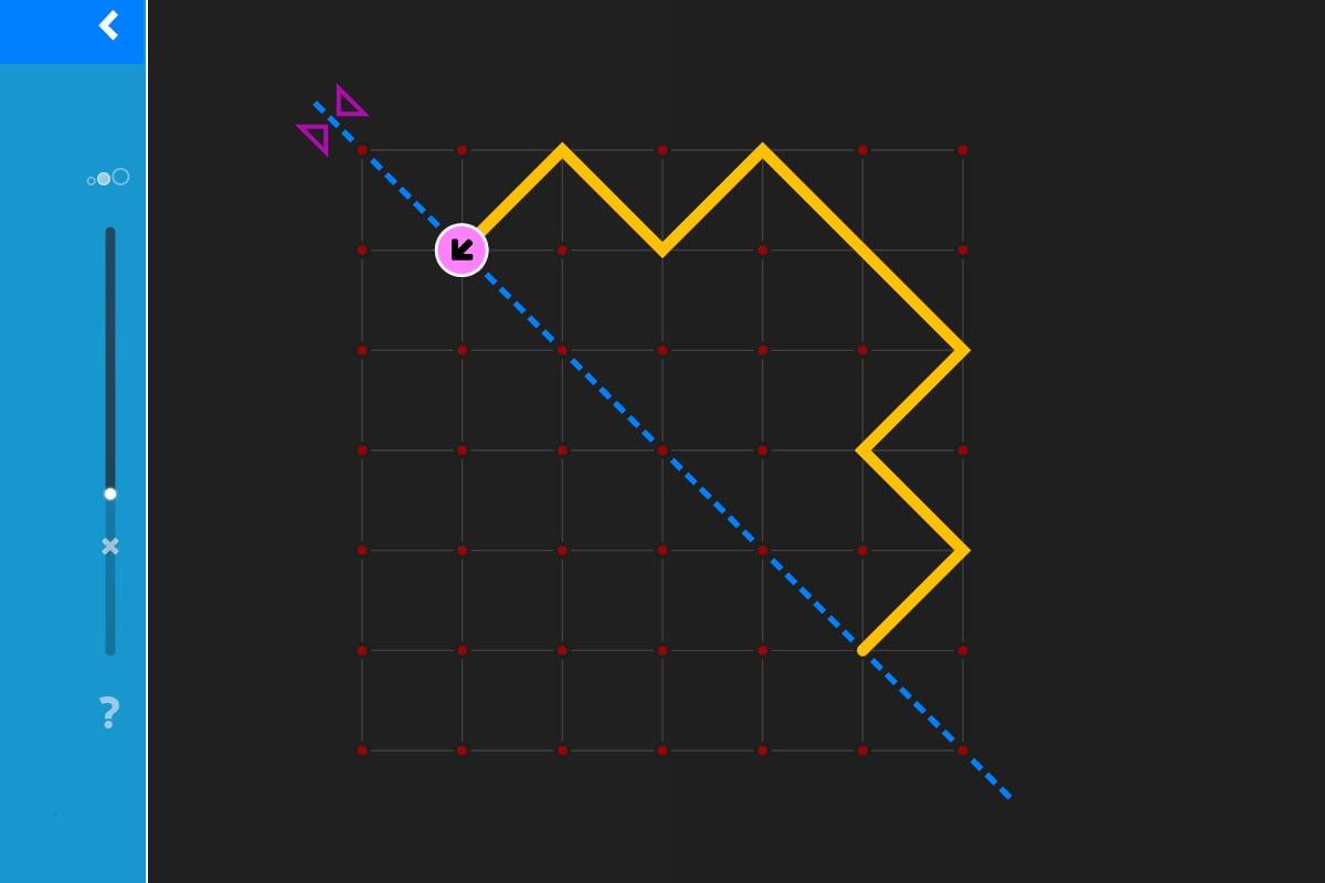 LOGO 7 – Übung 9: Eine Spur diagonal spiegeln