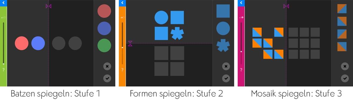 LOGO 7 – Spiegelungen: Farben und Formen in einen Raster spiegeln