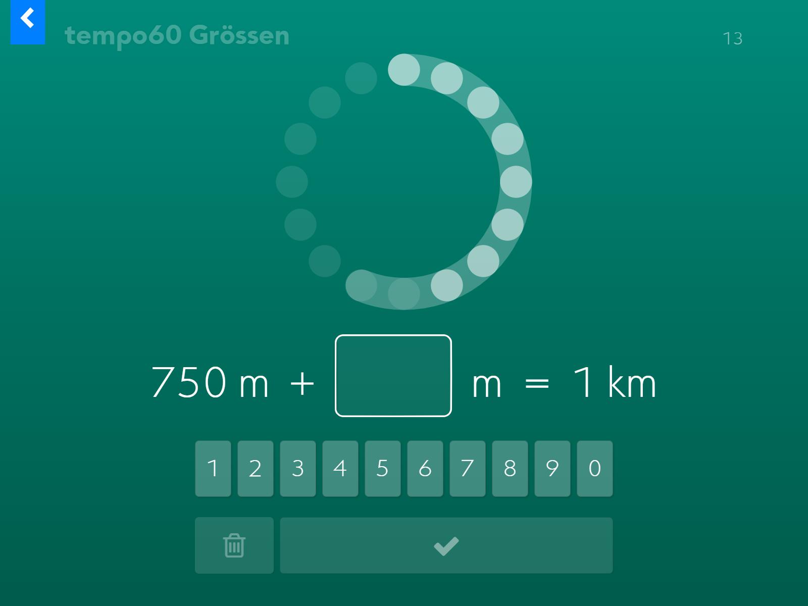 tempo60 Grössen: Ergänzen auf die nächstgrössere Einheit.