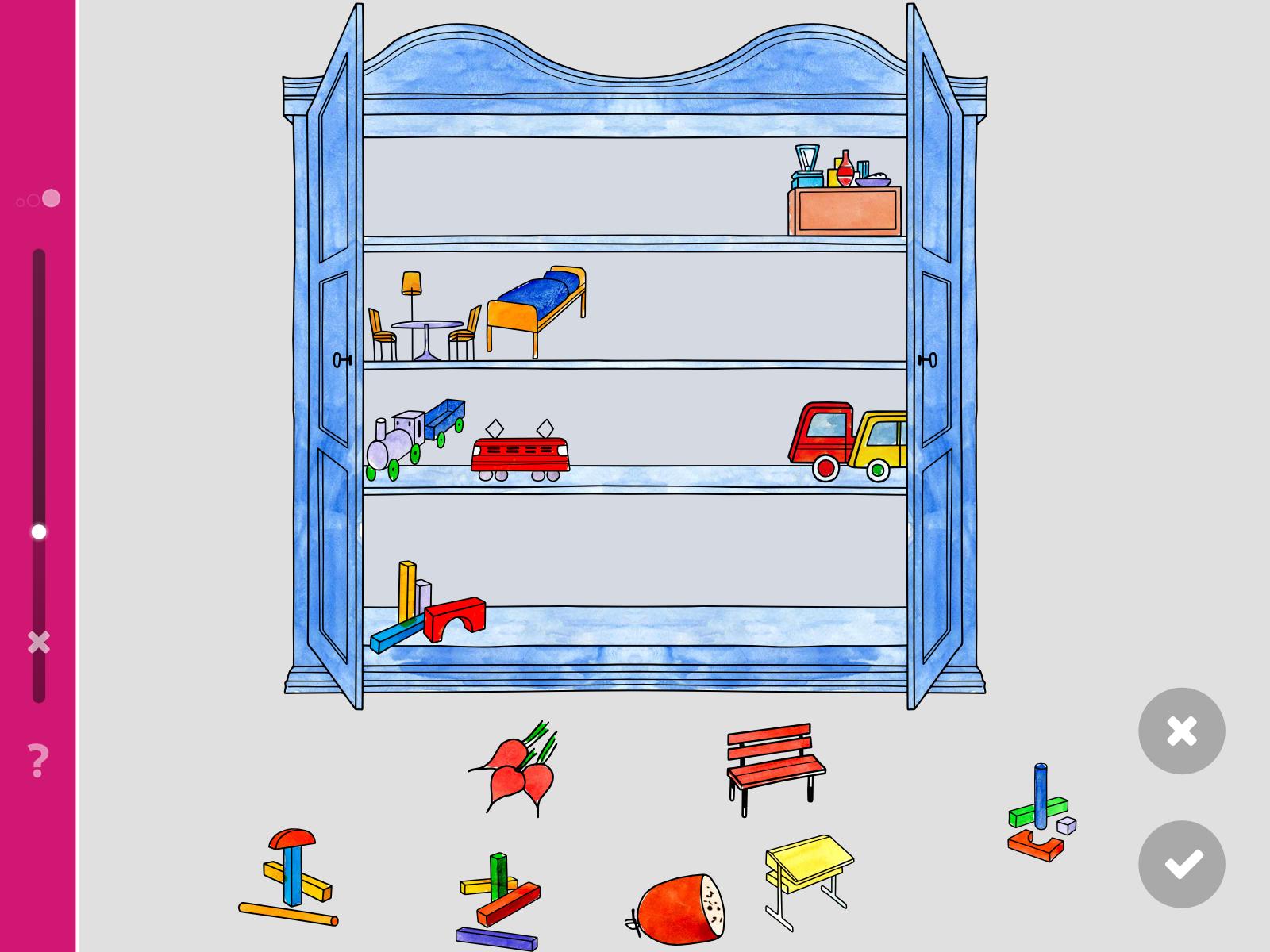 LOGO 6 – Spielsachen in den Schrank räumen